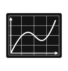 Screen arrow graph board icon vector