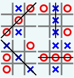 Scribble tic tac toe vector