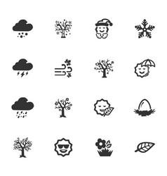 seasons icons set vector image vector image