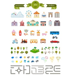 Set of elements for creating your own modern city vector image