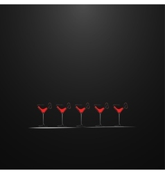 Shots with a drink Menu design vector image
