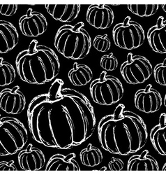 Simple hand drawn doodle pumpkin dark seamless vector