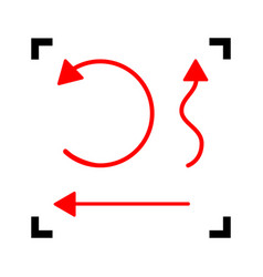 simple set to interface arrows red icon vector image