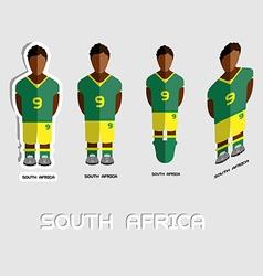 South Africa Soccer Team Sportswear Template vector