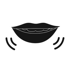Speaking mouth icon in black style isolated on vector image
