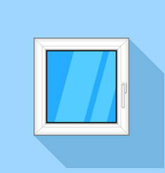 square plastic window icon flat style vector image vector image