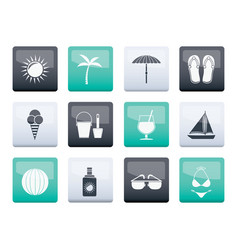Summer holiday and beach objects vector