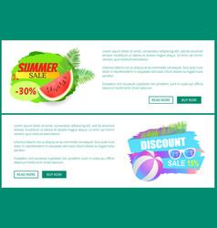 Summer sale watermelon ball vector