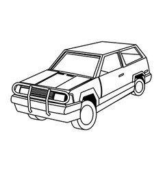 suv car cartoon modern vehicle transport vector image