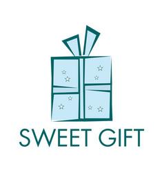Sweet gift logo design vector