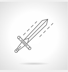 sword flat line icon vector image