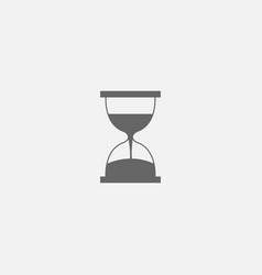 symbol of hourglass web line icon vector image