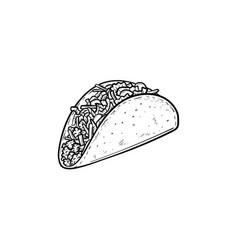 Taco hand drawn sketch icon vector
