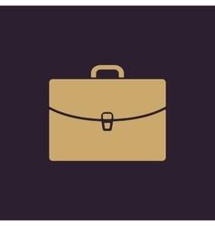 The briefcase icon Portfolio symbol Flat vector