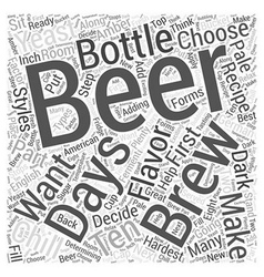 The first brewing beer recipe Word Cloud Concept vector