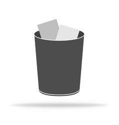 Trash bin for garbage waste dustbin for recycle vector