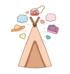 travel tent ecological tourism vector image
