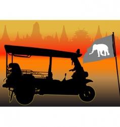 tuktuk vector image