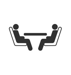 two passengers seating at table in public vector image