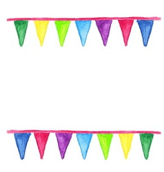 Watercolor party bunting isolated on white vector image