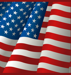 waving usa flag vector image