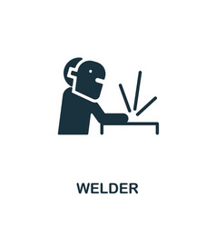 Welder icon monochrome simple element from vector
