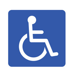 Wheelchair or accessibility parking sign vector