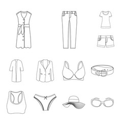 Woman and clothing icon vector