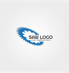 Wood saw logo template logo for business vector