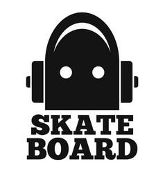 wood skateboard logo simple style vector image