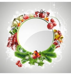 christmas with gift boxes vector image