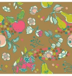 fruit garden seamless pattern vector image vector image