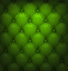 Green upholstery leather pattern background vector image