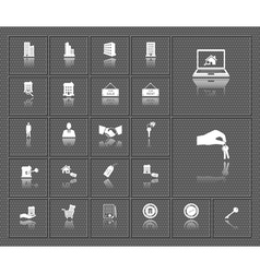 Houses and real estate web icons set vector image vector image