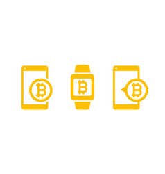 Mobile payments with bitcoin vector
