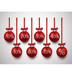 Sale christmas balls vector image