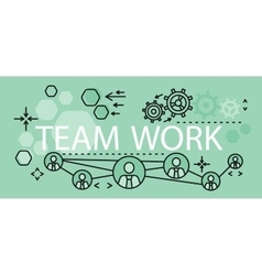 Team Work Concept Banner Design vector image vector image
