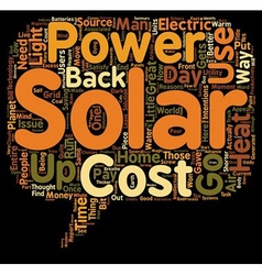 Why Use Solar Power Some Great Reasons text vector image