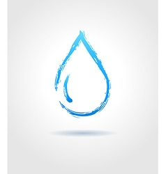 Abstract blue water drop on gray background vector