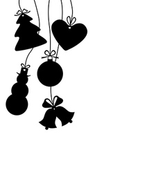 christmas baubles isolated vector image vector image