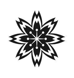 Japanese flower decorative symbol vector