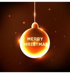Abstract shine Christmas ball card vector image vector image