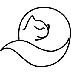Cat roll vector image vector image