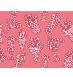 ice-cream cocktails vector image