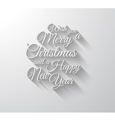 Merry Chrstimas Retro Typography slogan with long vector image