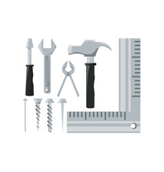 set equipment tool and repair service vector image