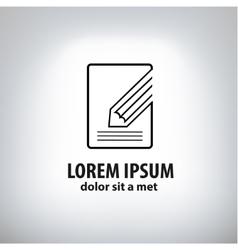 book and pencil icon vector image