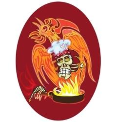 cook - skull vector image vector image