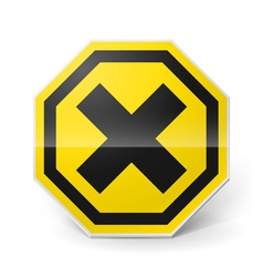 Noxious and irritating sign vector image vector image