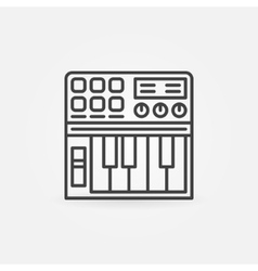 Synthesizer linear icon vector image